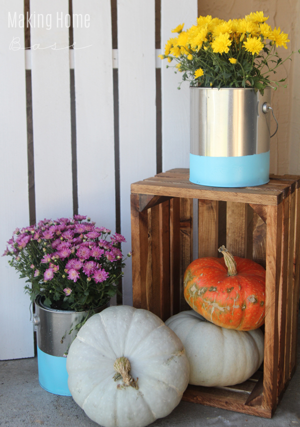Paint Dipped Paint Can Planters