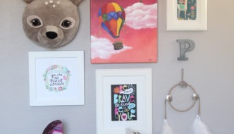 little girls room gallery wall