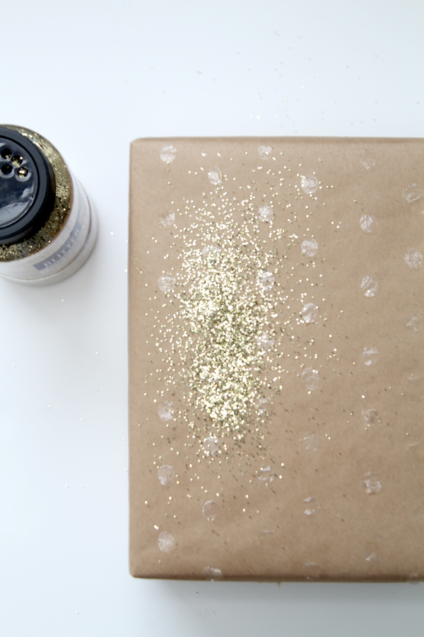 DIY glittery packages