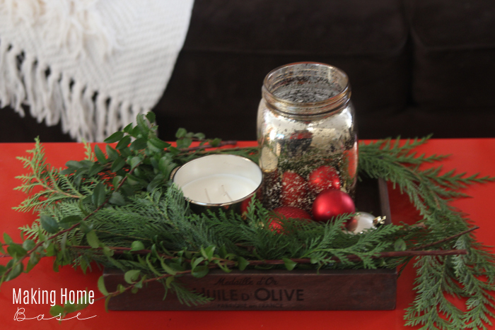 Holiday Coffee Table Centerpiece