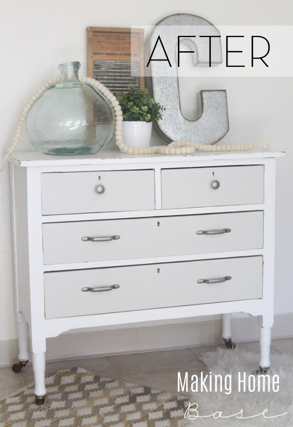 Gray And White Painted Dresser
