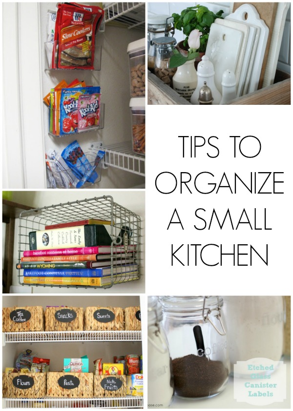 Tips to organize a small kitchen for Kitchen organization ideas small spaces