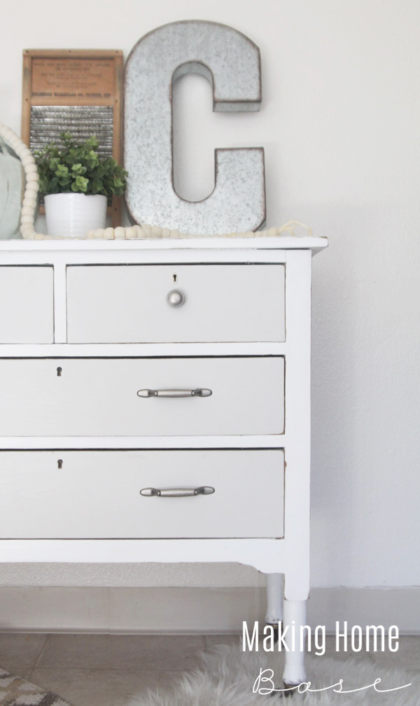 Two Toned Painted Vintage Dresser