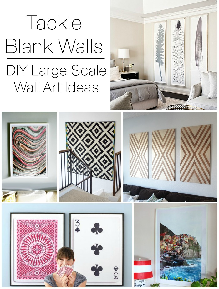 decorating large walls large scale wall art ideas - Diy Bedroom Wall Decorating Ideas