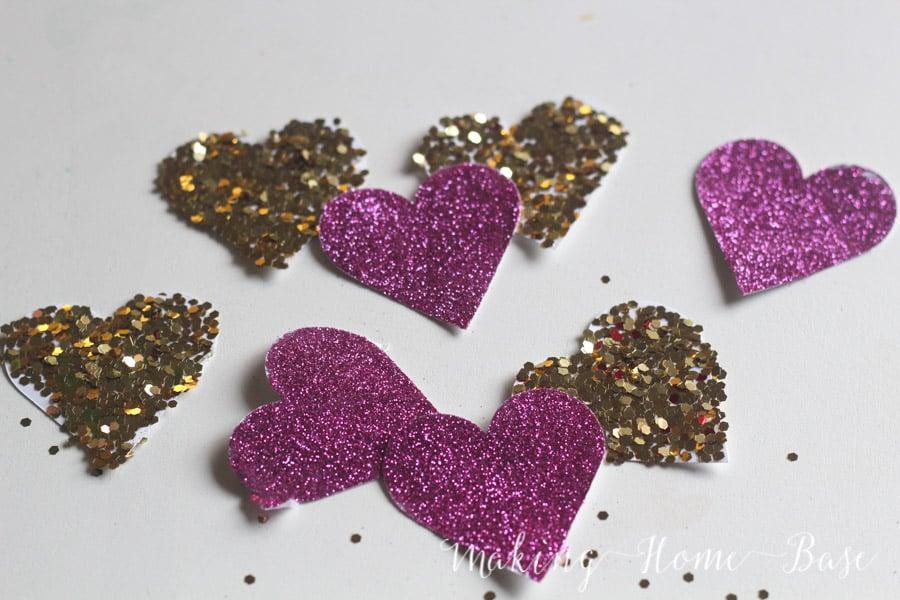 Glitter Heart Garland-1