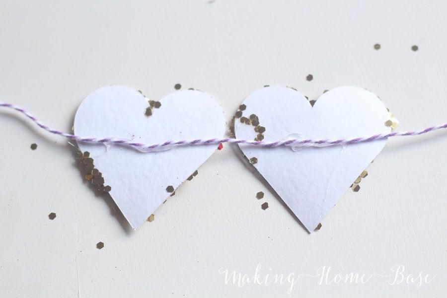 Glitter Heart Garland-2