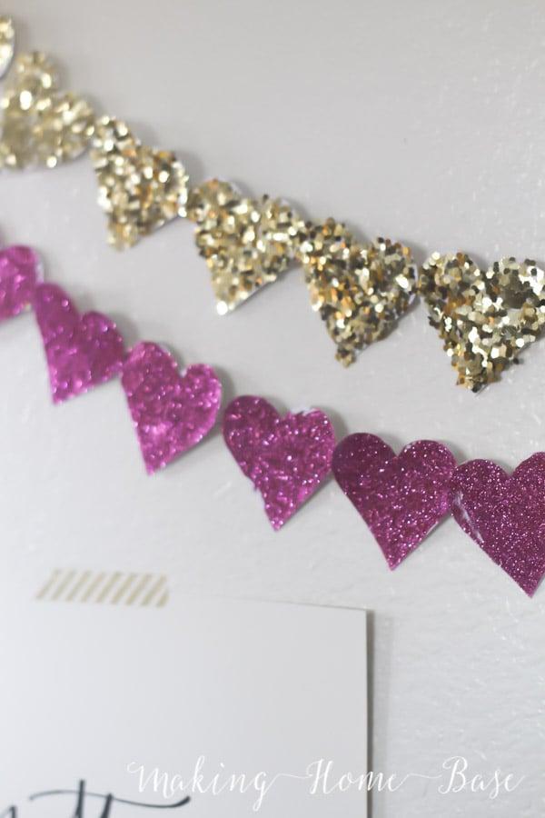 Glitter Heart Garland-4