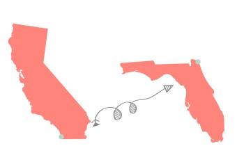 CA to FL