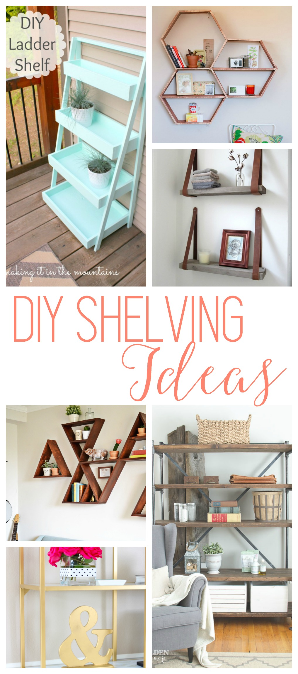 Diy shelves 18 diy shelving ideas for Diy room decor ideas you never thought of