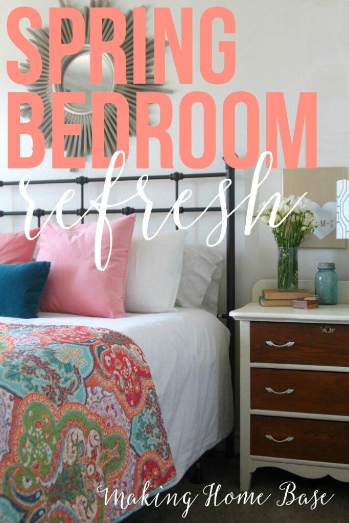 Spring bedroom refresh updates