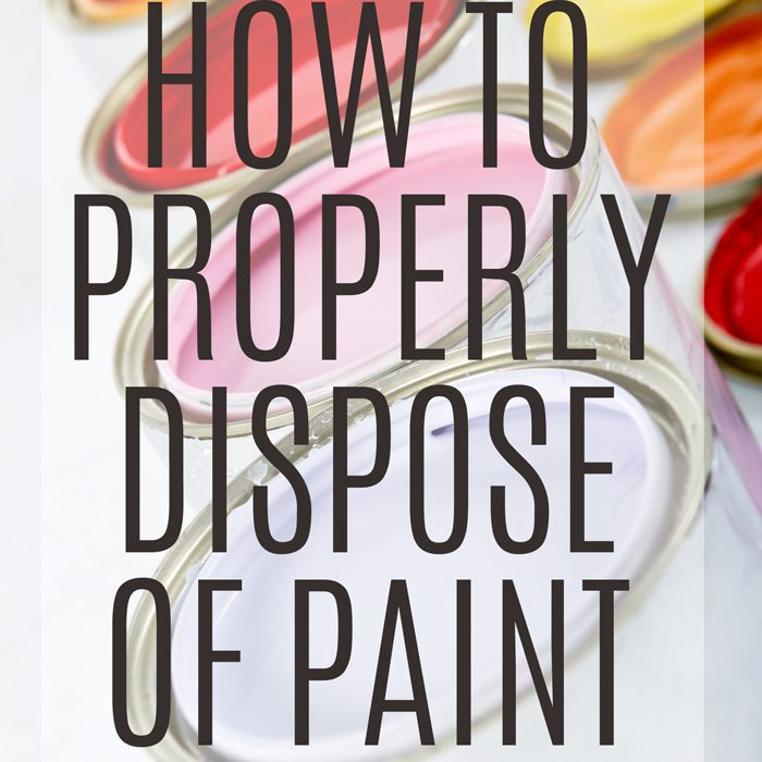 How To Dispose of Paint Properly