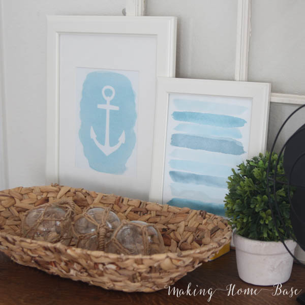 Anchor Printable and Summer Vignette Hop