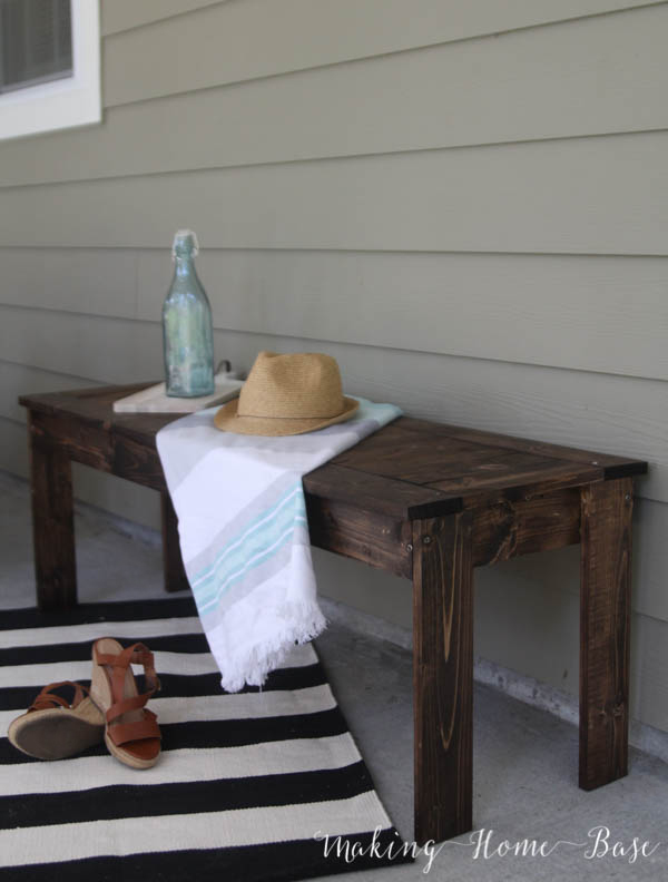 DIY Slat Bench West Elm Knock Off-4