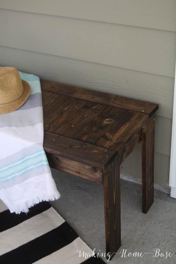 Awe Inspiring Diy Wood Slat Bench West Elm Knock Off Cjindustries Chair Design For Home Cjindustriesco