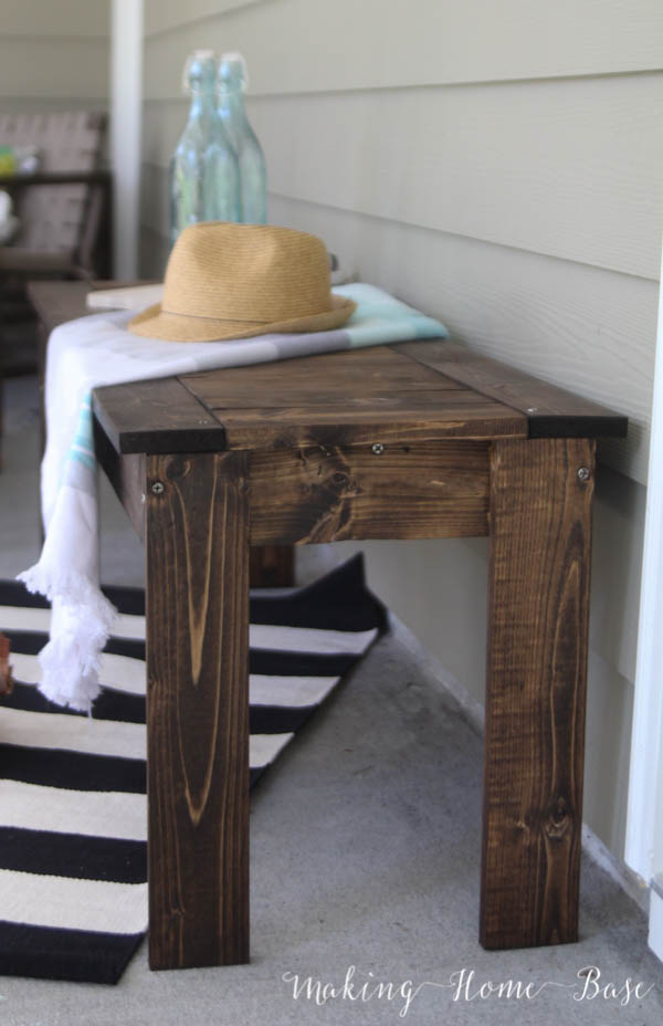 DIY Slat Bench West Elm Knock Off-7