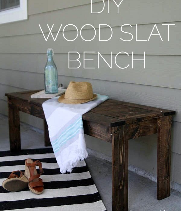 DIY Wood Slat Bench [West Elm Knock Off]