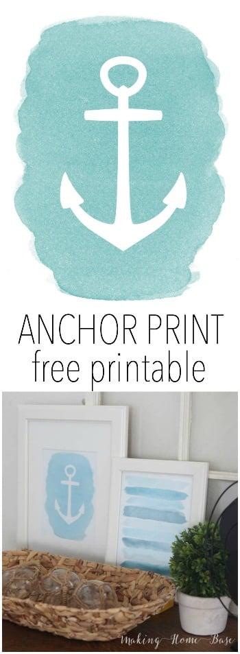 anchor print free printable