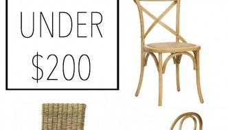 Seven Neutral Side Chairs Under $200