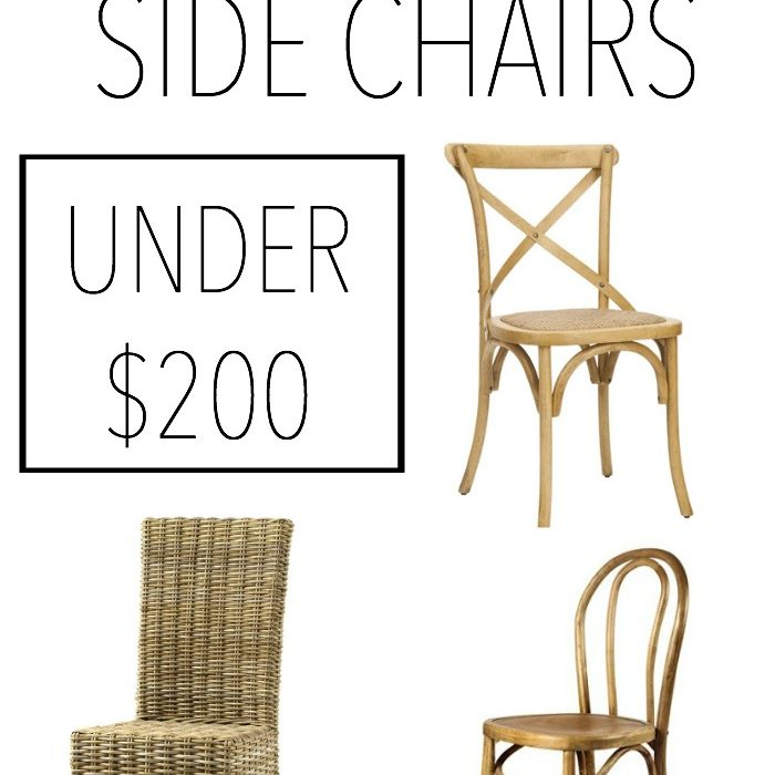 Neutral Side Chairs Under $200