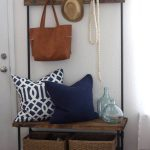 Entryway Organizer – Wood and Pipe Entryway Stand