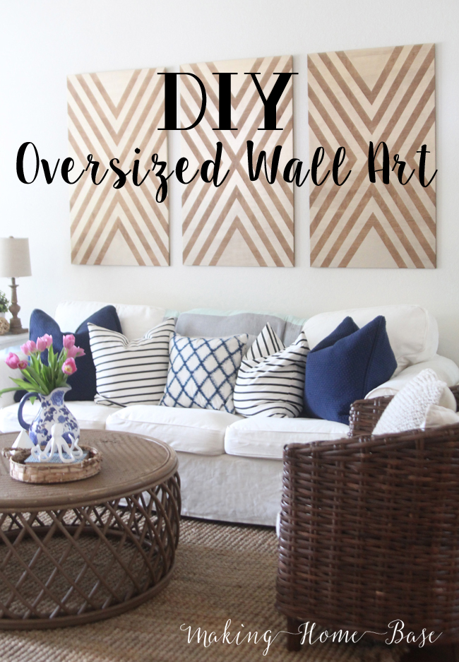 Diy oversized wall art for Diy room decor ideas you never thought of