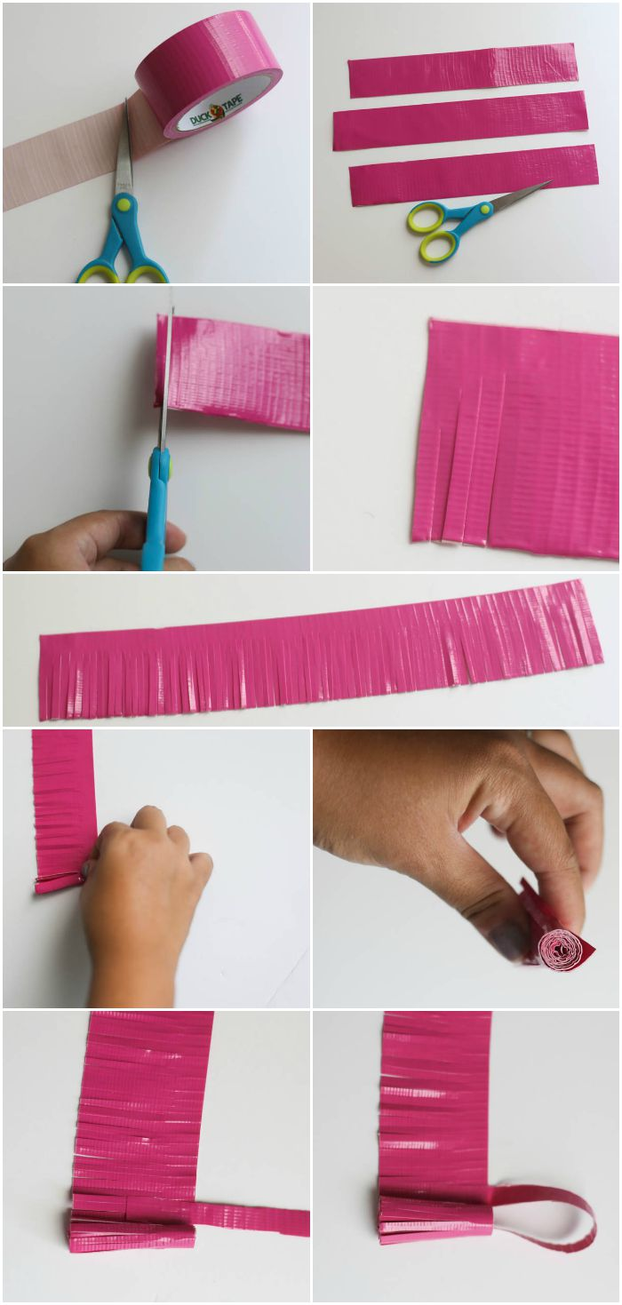 Duck Tape crafts - bag tassels