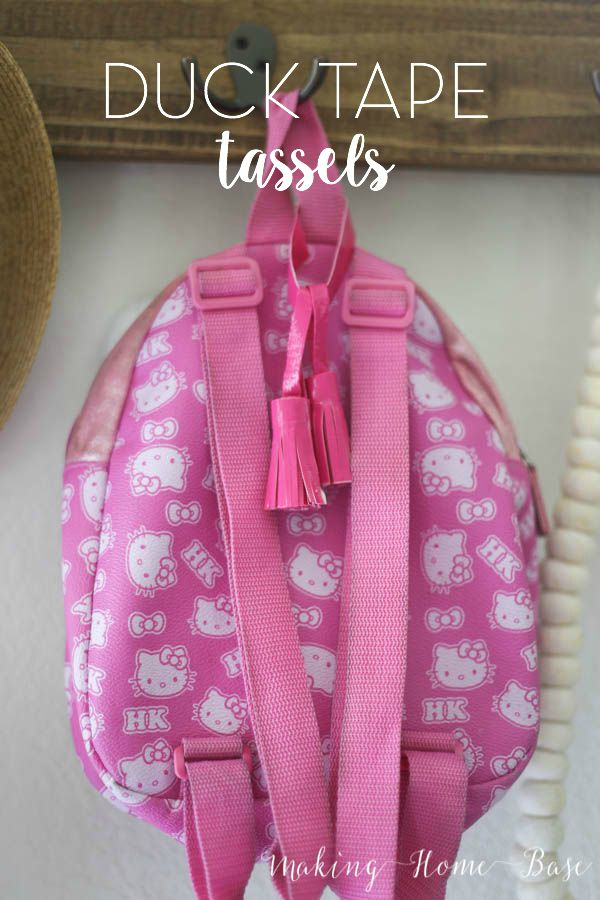 Easy Duck Tape Tassels