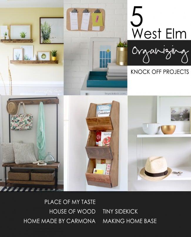 West Elm Organizing Knock Offs