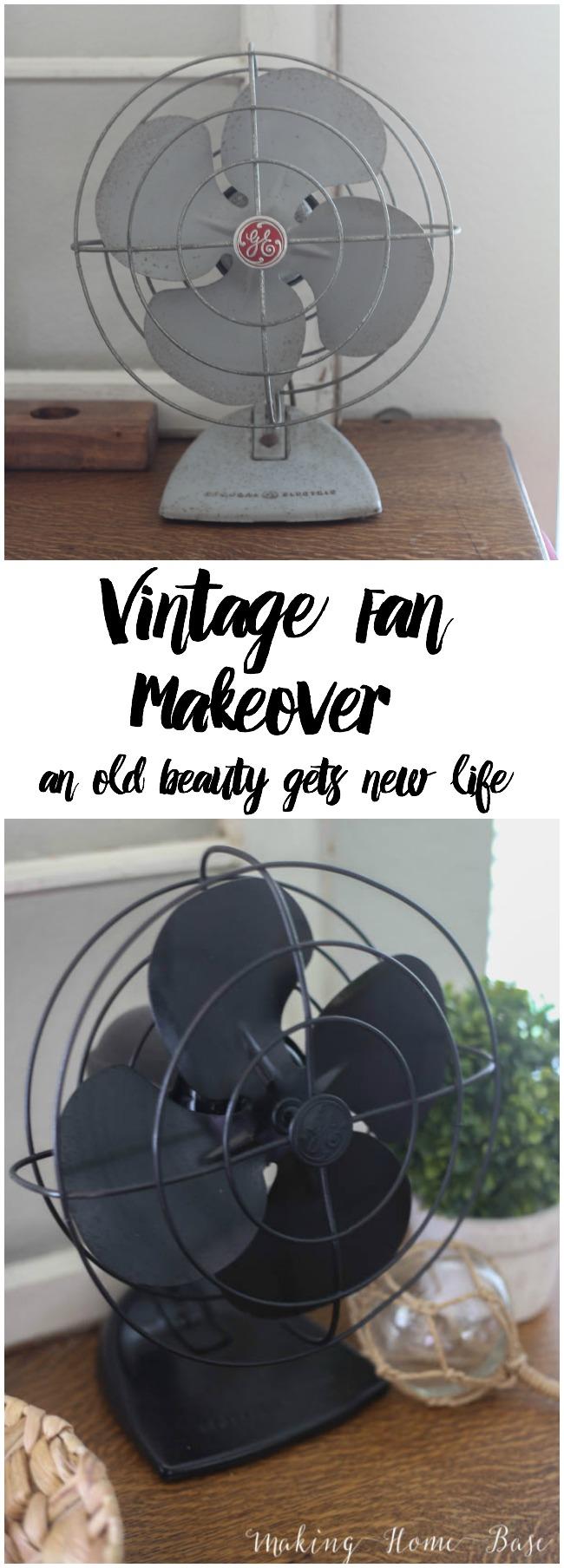 vintage fan makeover