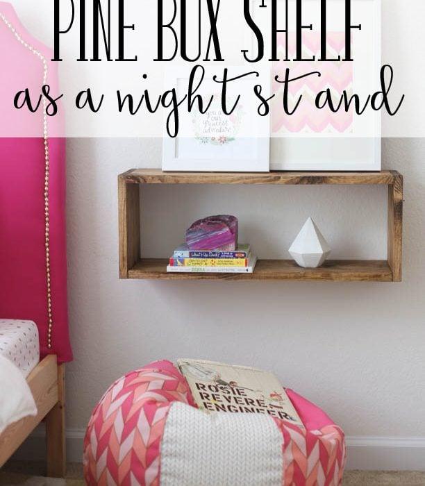 Pine Box Shelf DIY – West Elm Knock Off Series