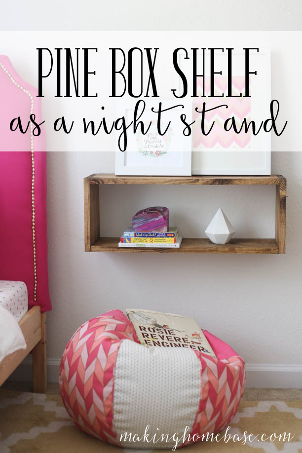 pine box shelf diy