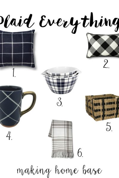 Plaid Everything - Affordable Fall Decor