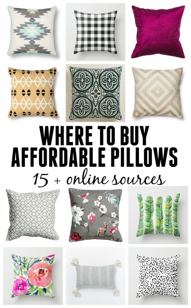 Where To Find Cheap Throw Pillows   15+ Online Sources For Decorative  Pillows At Budget