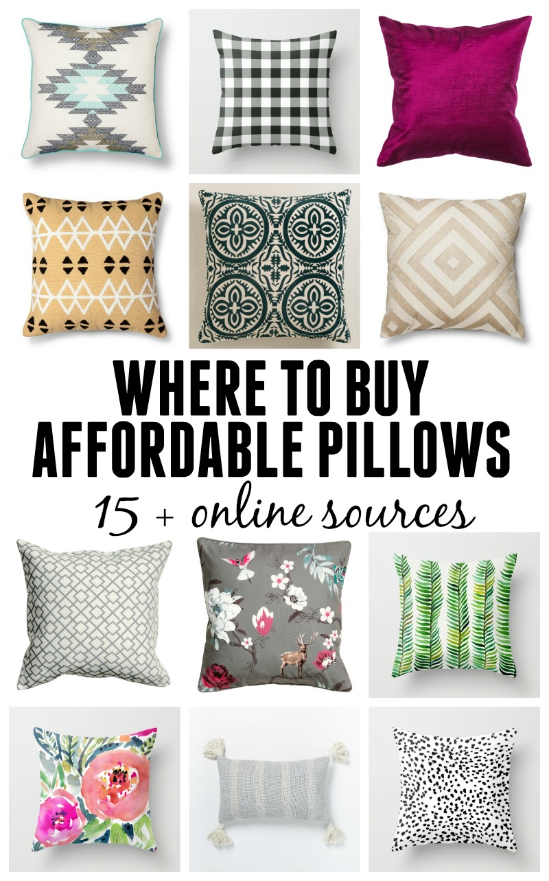 Where to find affordable pillows - 15+ online sources for decorative pillows at budget prices