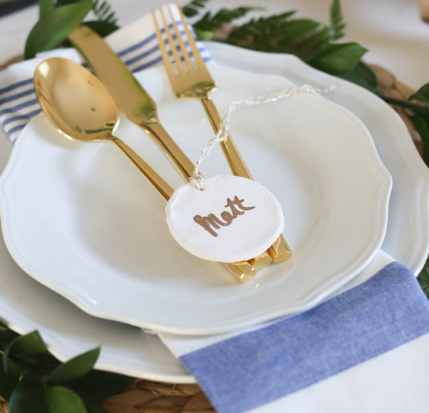 Easy DIY Clay Place Cards