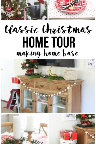 Classic Christmas Home Tour - I love the personal touches of the decorations!!