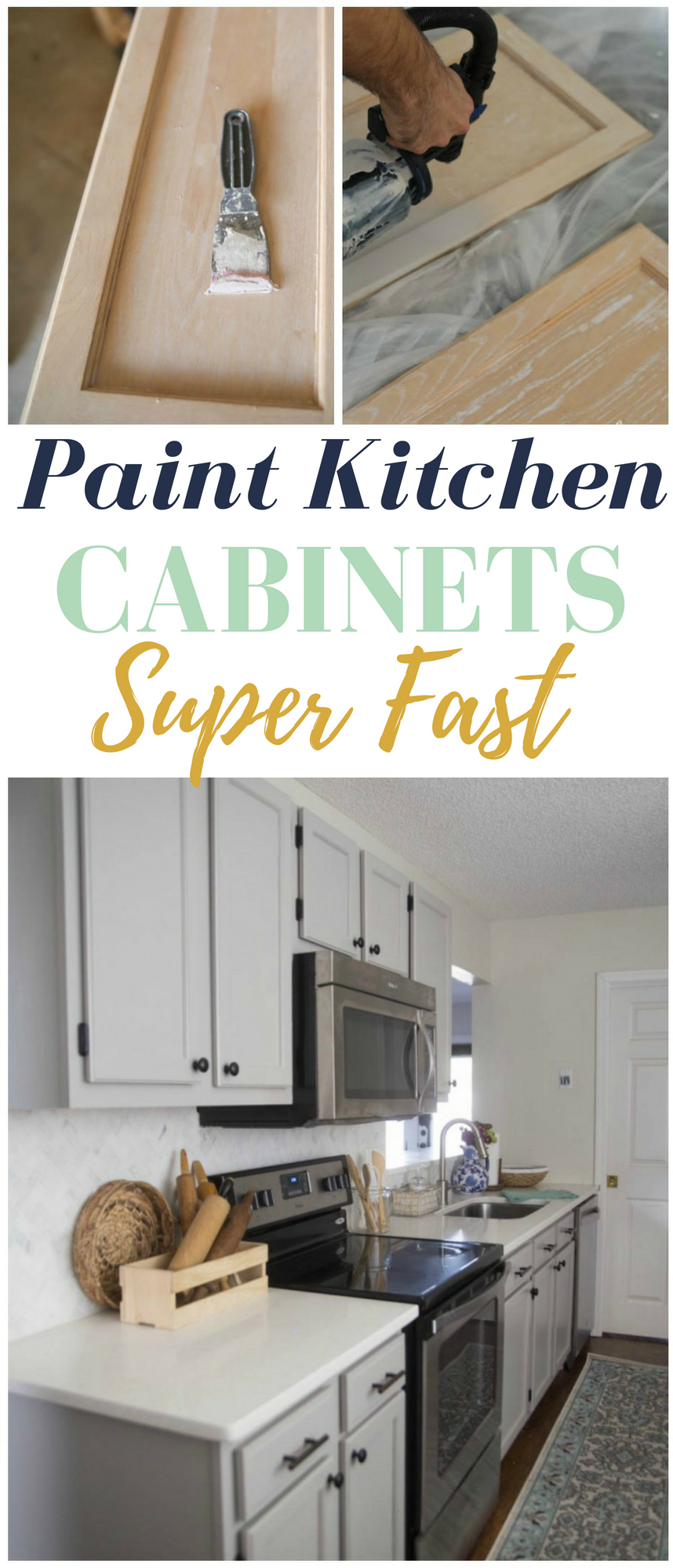 How To Paint Kitchen Cabinets Super Fast   Some Serious Time Saving Tricks  Here!