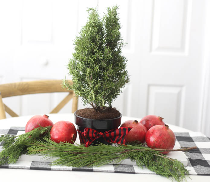 Mini Tree Christmas Centerpiece