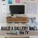 Living Room Progress – Gallery Wall Around The TV