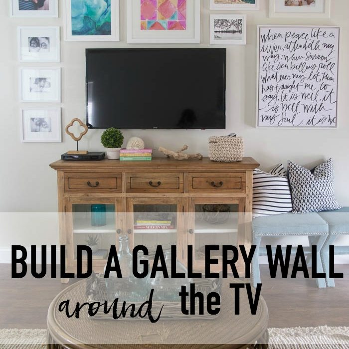 Living Room Progress – Gallery Wall Around The TV