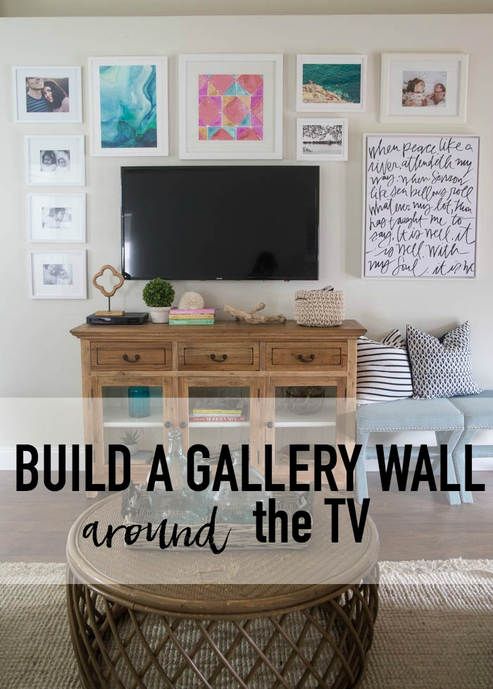 Build A Gallery Wall around the TV