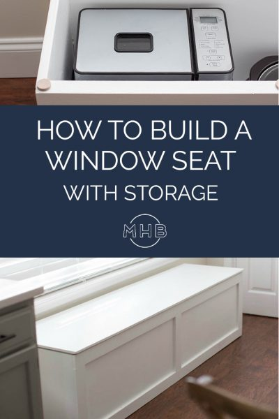 How to build a window seat with storage - a step by step tutorial!