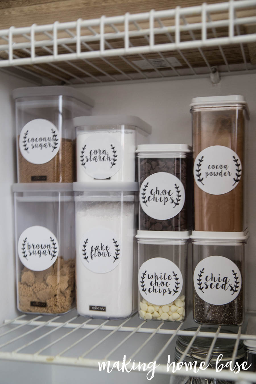 Organized Pantry With Labels-2