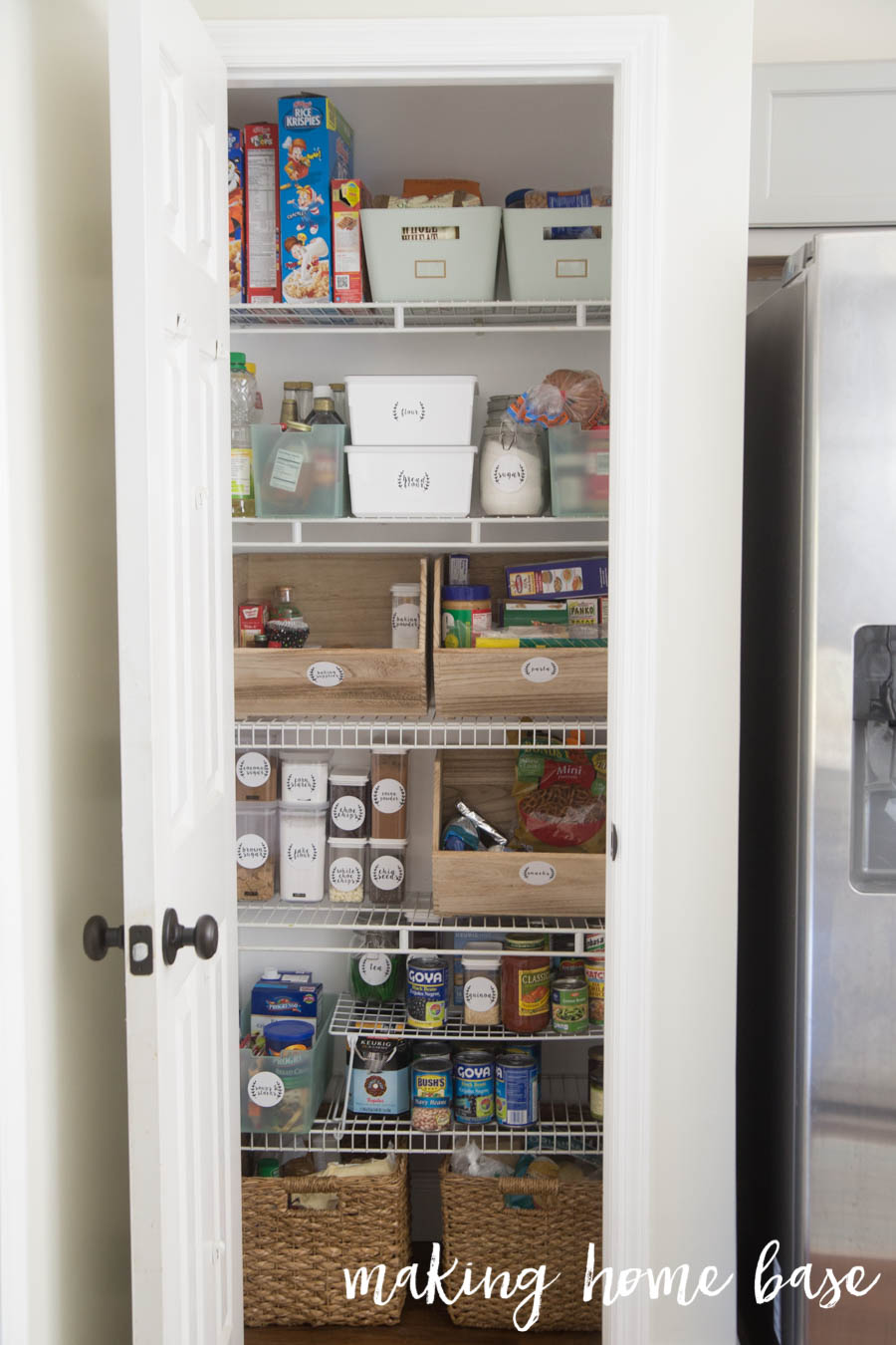 how to organize a kitchen pantry six steps to pantry organization with free printable labels 8765