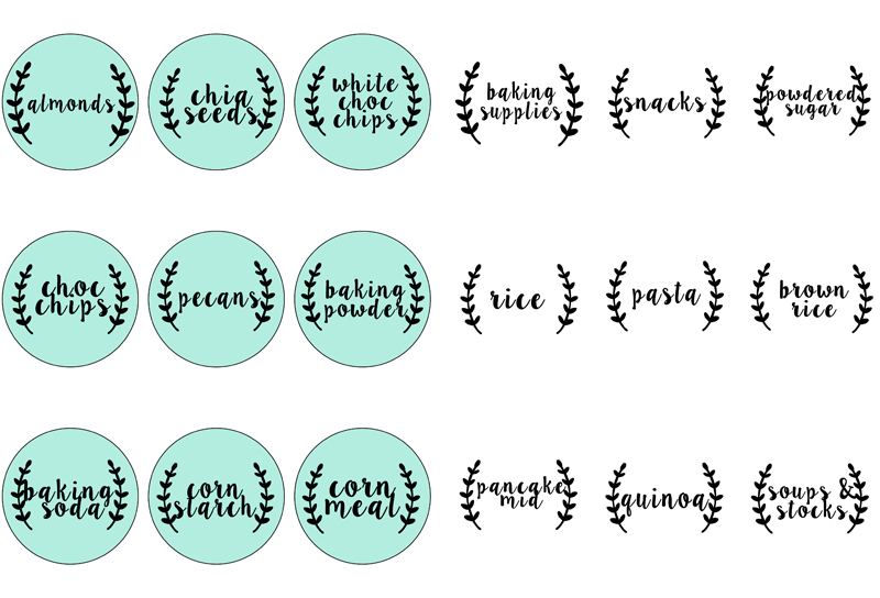 picture about Free Printable Organizing Labels referred to as 6 Ways in the direction of Pantry Business with Totally free Printable Labels