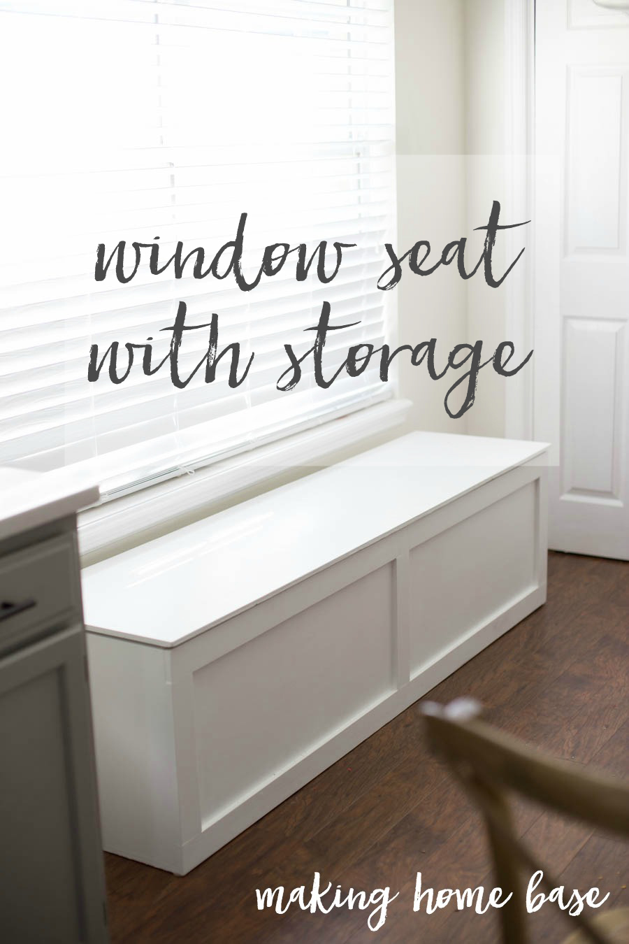 How To Build A Window Seat   I Love This   Plus It Has A Ton