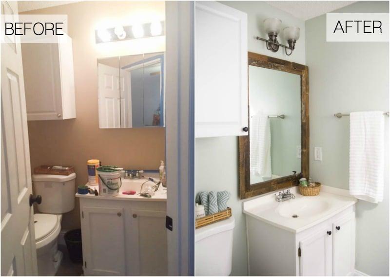 bathroom makover plan on a budget | Beachy Budget Friendly Bathroom Makeover - Making Home Base