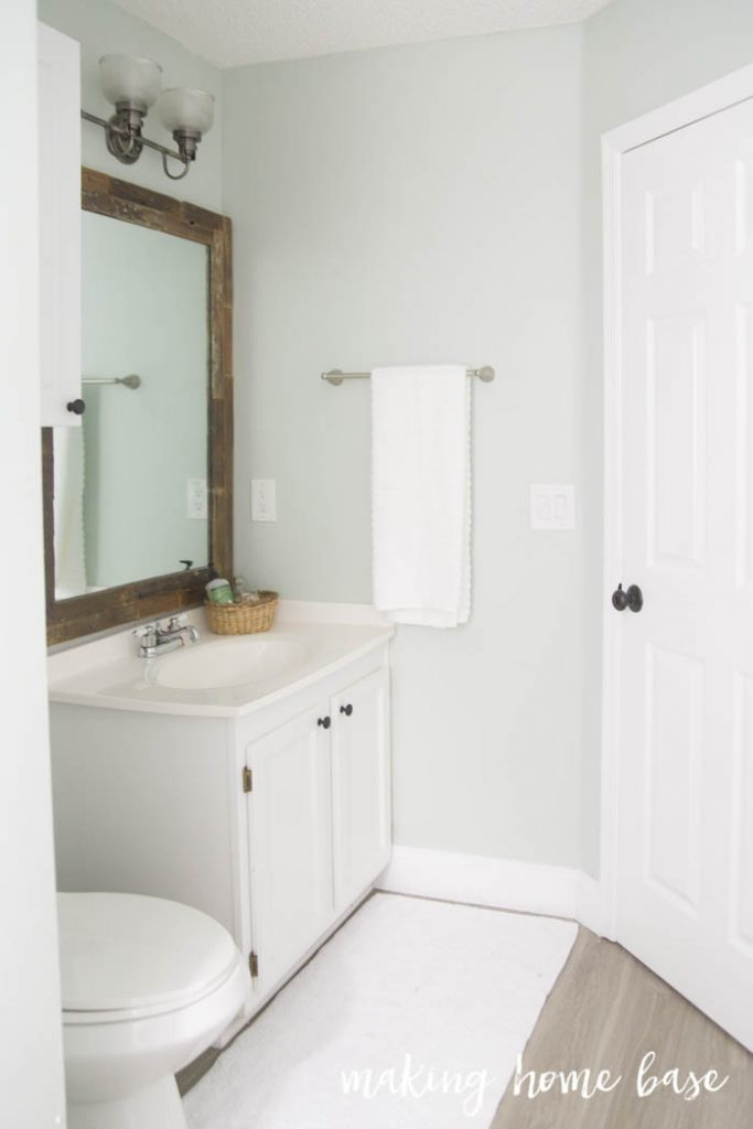 Beachy Budget Friendly Bathroom Makeover Making Home Base - Budget friendly bathroom remodels