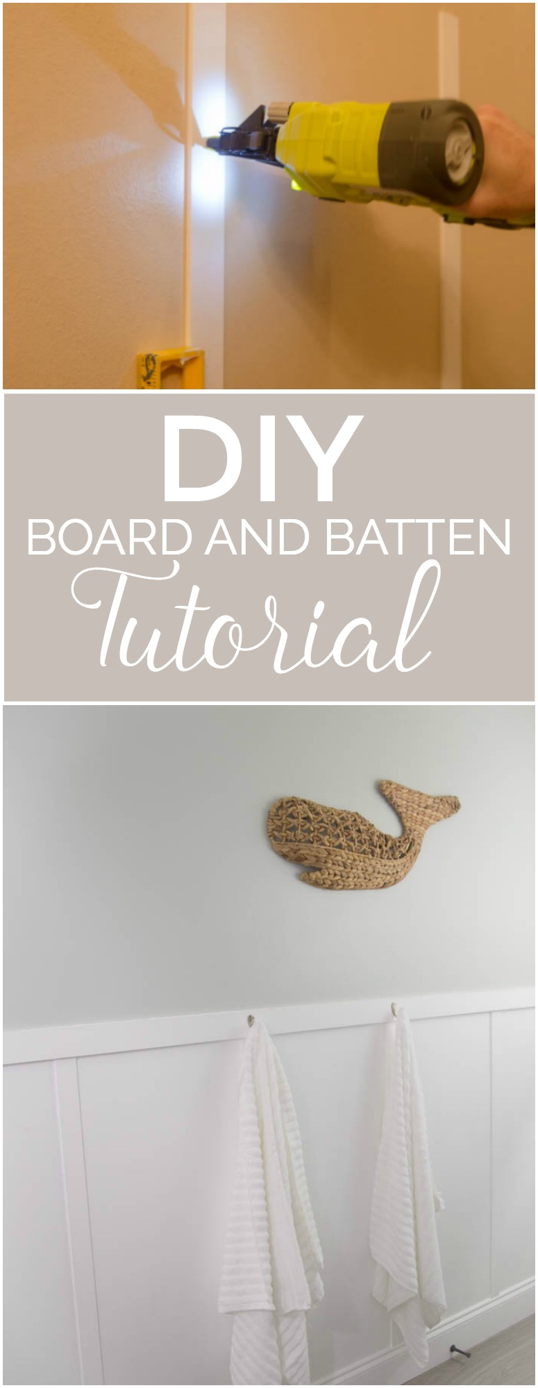 DIY Board and Batten Tutorial - Add Board and Batten without replacing your baseboards