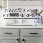 Gray and White Kitchen Kitchen Makeover